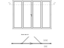 French Door with Fixed Panels