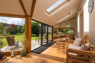 A Garden Room to Enjoy All Year Round with Origin Bi-Folding Doors