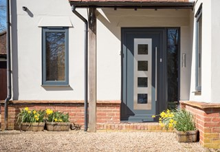 Stylish Anthracite Grey Front Door in Essex