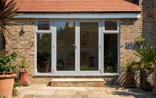 Chic Grey French Doors in West Sussex