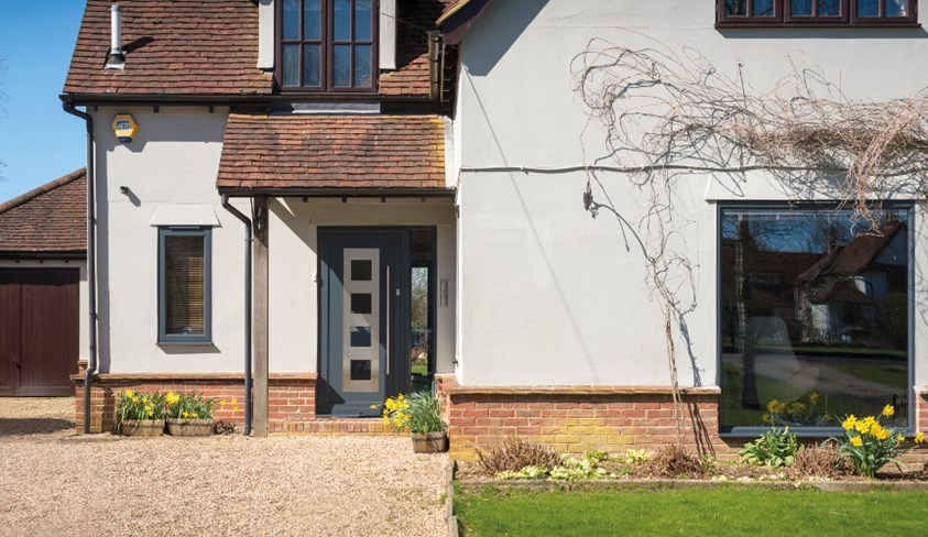 Stylish Anthracite Grey Front Door In Essex