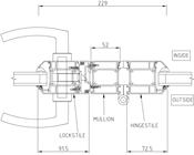 Locking Mullion Detail