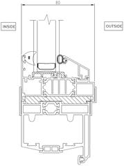 Window to door track coupler