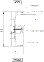 Fixed Panel to Double Frame (Jamb)