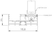 Sliding Panel to Double Frame (Bottom Track)