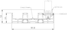 Sliding Panel to Triple Frame (Bottom Track)
