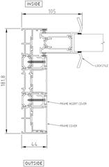 Sliding Panel to Triple Frame (Jamb)