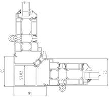 90° Fixed Corner Post