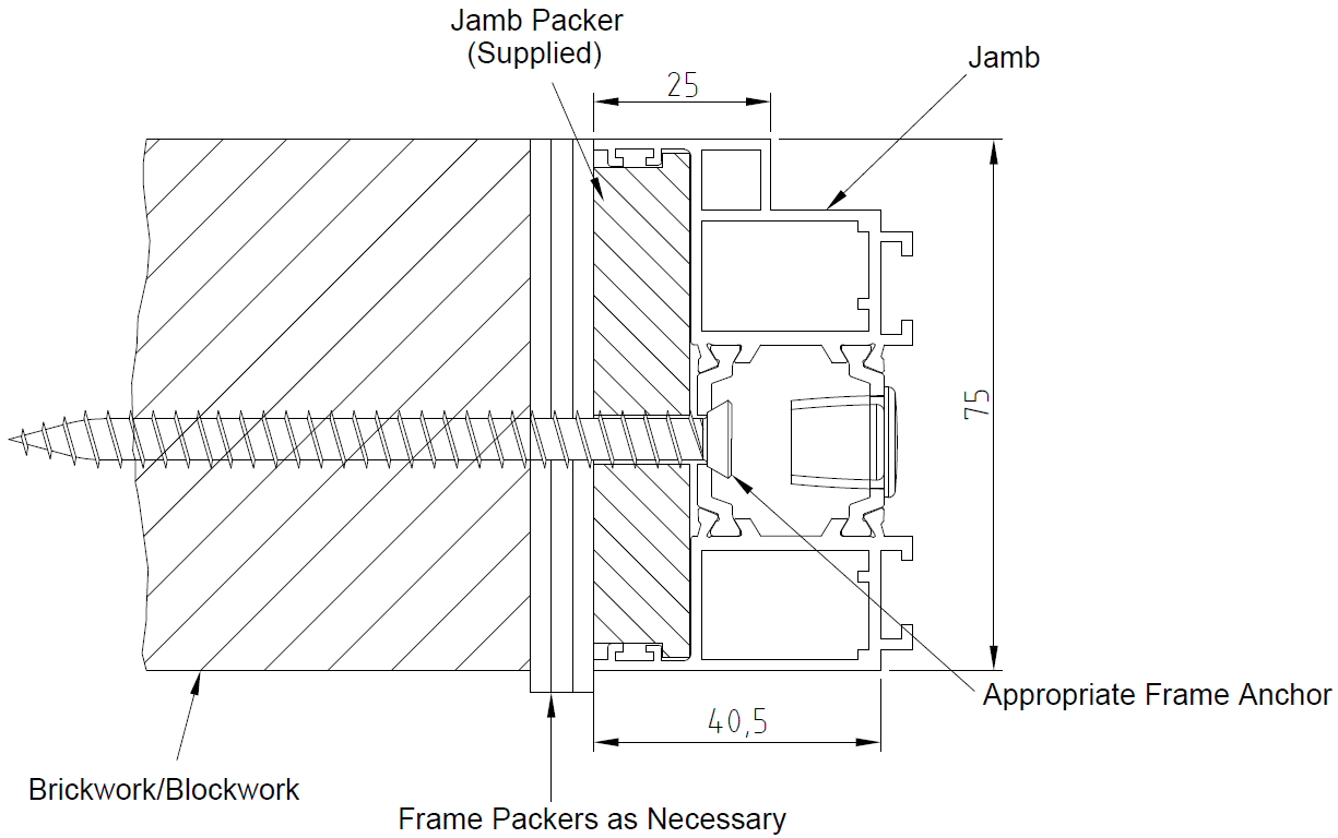 Jamb Fixing Detail Drawing