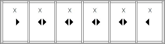 XXXXXX (6 sliding)