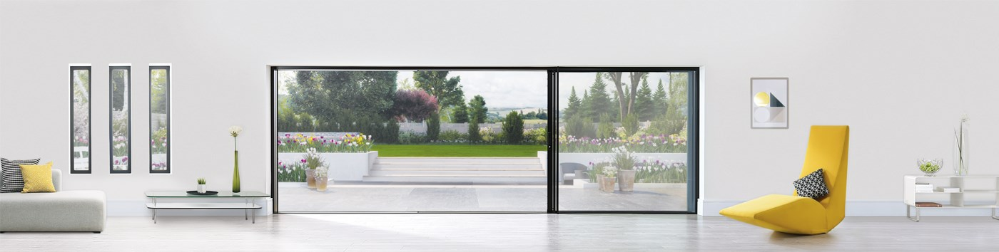 Origin Sliding Door leading to a garden