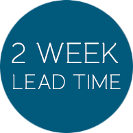 2 week lead time