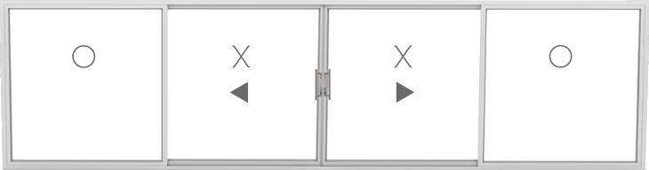 OXXO (2 fixed, 2 sliding)