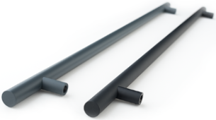 1200mm Soft-touch straight bar handles
