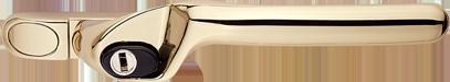 Gold handle